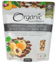 Organic Traditions Dried Bitter Apricot Kernels 8 oz