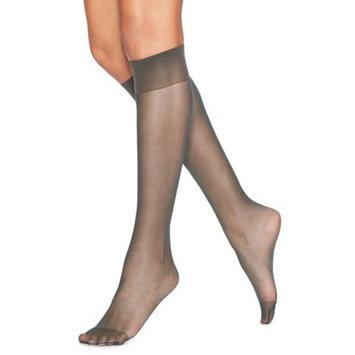 Silk Reflections Womens Knee High Reinforce Toe 2 Pack