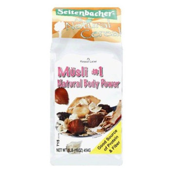 Seitenbacher Muesli Cereal #1 – Natural Body Power – Apple and Hazelnuts, 16 ounces (Pack of 6)