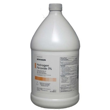 Hydrogen Peroxide Topical Solution USP (3%) Hydrogen Peroxide McKesson 1 gal. Solution Bottle, 1 Count 2 Pack