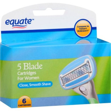 Equate Women's 5-Blade Razor Replacement Cartridges, 6 Ct
