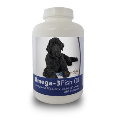 Healthy Breeds 840235141839 Portuguese Water Dog Omega-3 Fish Oil Softgels 180 Count
