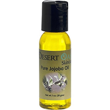 Pure Golden Jojoba Oil Travel Size, 1 oz (29 ml), Cold Pressed, Not deodorized, All natural, Grown and pressed in USA