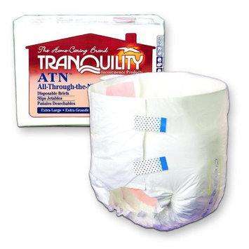 Tranquility Atn (All-Through-The-Night) Disposable Brief 18 to 26 in./18.5 fluid oz./Box of 100