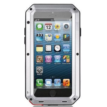 Agptek Shockproof Aluminum Glass Metal Case Cover for iPhone 5 5s Silver