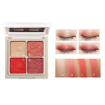 YOYORI Eyeshadow, 4 colors Eyeshadow Loose Powder Mineral Eyeshadow Shimmer Metallic Glitter Pow for Professional Makeup or Daily Use