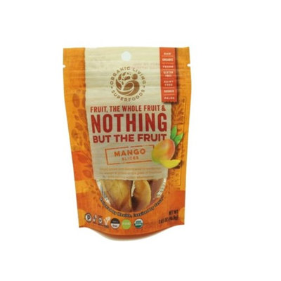 Organic Living Superfoods mango-S Raw Dried Mango Slices - Pack of 12