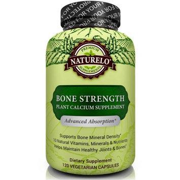 Naturelo Bone Strength - with Plant Calcium, Magnesium, Vitamins C, D3, & K2 - 120 Vegetarian Capsules
