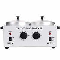 GHP 220W Electric Double Pot Salon Wax Heater Warmer with Adjustable Temperature