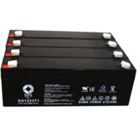 SPS Brand 12V 2.3 Ah Replacement Battery for Datascope Corp 3000 (4 pack)