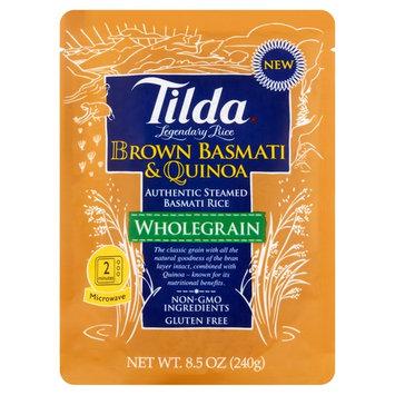 Tilda Wholegrain Brown Basmati & Quinoa Authentic Steamed Rice, 8.5 oz, 6 pack