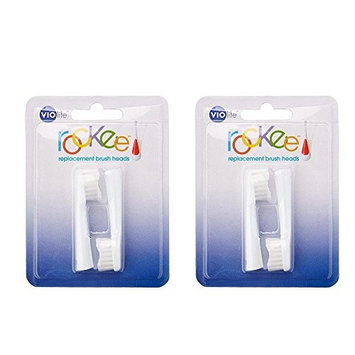 Pack of 2 Violife 2TB Rockee Replacement Toothbrush Heads White 2 Count 819243010642