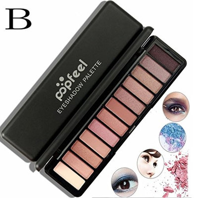 AMA(TM) 12 Color Professional Cosmetic Matte Eyeshadow Cream Makeup Palette Shimmer