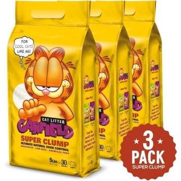 Garfield Super Clump Cat Litter, Unscented, 5 Lb (Pack of 3)