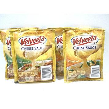 Kraft Velveeta Toppers Original Cheese Sauce and Jalapeno Cheese Sauce 16 oz.