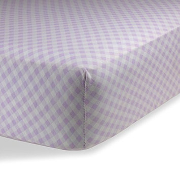 Crib Sheets / Crib Sheets Boys / Crib Sheets Girls for Baby - Infant - Toddler Deep Fitted Soft Jersey Knit by Abstract (28' X 52' (STANDARD CRIB), Checked Lavendar)