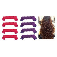 Ranvi Hair Curlers Spiral Curls Styling Kit, 18 PCS 30CM No Heat Hair Curlers and 1 Styling Hooks