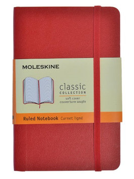Moleskine Classic Soft Cover Notebooks red, 3 1/2 in. x 5 1/2 in, 192 pages, lined [pack of 2]
