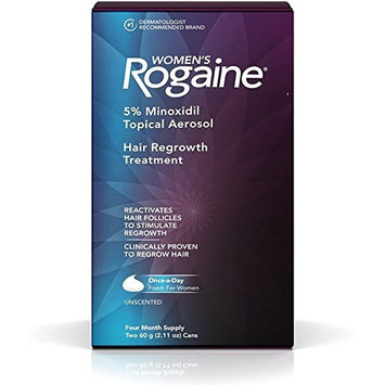 Rogaine Women's Hair Regrowth Treatment, 4 Month Supply, 2.11 oz cans, 2 ea (Pack of 4)