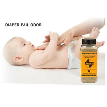 SMELLEZE Natural Diaper Pail Odor Control Deodorizer: 2 lb. Granules Kill Stinky Poop & Pee Stench