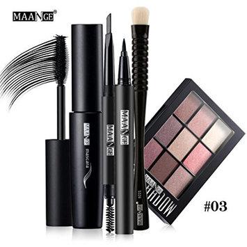 MakeupPrettymenny Kit Brush Cosmetic Set ,Blusher Lip Gloss Shimmer Eyeshadow Palette