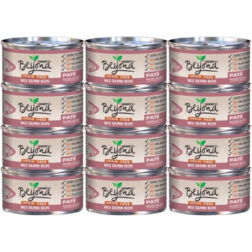 Nestle Purina Purina Beyond Grain Free Wild Salmon Recipe Pate Cat Food Case of 12- 3 oz. Cans