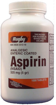 Watson Rugby Labs Aspirin 325 mg, Micro Coated, 1000 Tablets, Watson Rugby