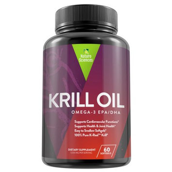 Krill Oil By Naturo Sciences - 30 Servings, Essential Omega 3 Fatty Acids