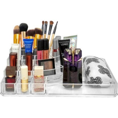 Sorbus Acrylic Cosmetics Makeup and Jewelry Storage Case X-Large Display Sets - Interlocking Scoop Drawers to Create Your Own Specially Designed Makeup Counter - Each Drawer Is Stackable, Detachable,