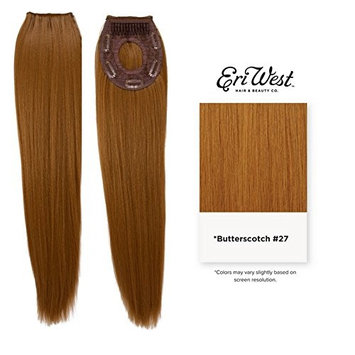 Eri West - Clip-in Invisible Ponytail Extension Futura Fiber Ponytail 120g - Yaki Straight 22