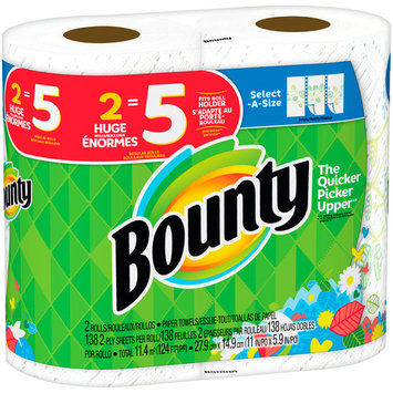 Bounty Select-A-Size Paper Rolls, 2 Count