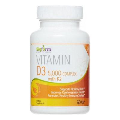Sigform Vitamin D3 5000 IU Complex Capsules, 60 Ct