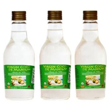 Organic Premium 100% Virgin Coconut Oil Manila Coco [2 x 250 ml = 500 ml] CLEAN LABEL NO BLEND: 1 Raw Mat 1 Extraction 1 Site: MORE NUTRIENT DENSE - Native Clean Fresh Smooth Flavor