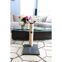 One Source International, Llc 30 inch Sisal Scratching Post (Grey Fleece 16x16 Base)