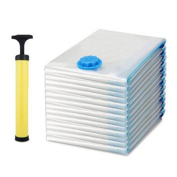 Unbrand 13PCS Large Space Saver Saving Storage Vacuum Seal Compressed Organizer Bag with Air Pumpï¼ 6 size New 13PCS Large Space Saver Saving Storage Vacuum Seal Compressed Organizer Bag with Air Pump