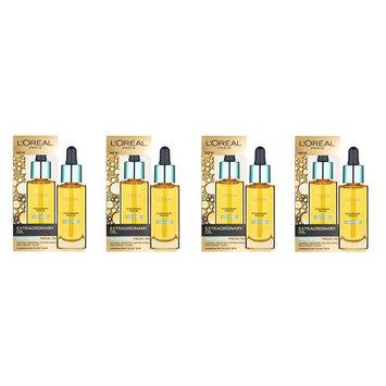 L'Oreal Paris Nutri Gold Extraordinary Facial Oil for Dry Skin, 1 Oz (Pack of 4)