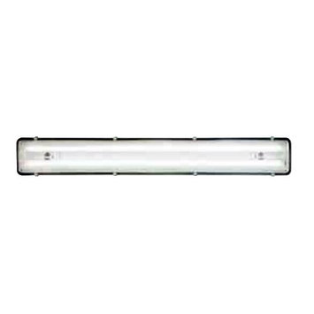 J & D Manufacturing J;D Manufacturing- LEDB-2-4NL Rotating T8 LED Lighting with Night Light, Frosted 4100*K Tubes with Clear Lens, 4', 2 LED Tubes, 110-277 Volts, .33/.16 Amps