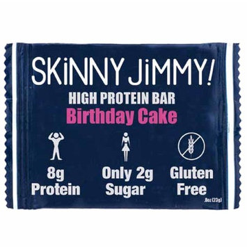 JIMMYBAR Skinny Clean Protein Bars- Birthday Cake - 24 Pack