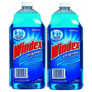 Windex Glass Cleaner Refill 2 Liter (Pack of 2)