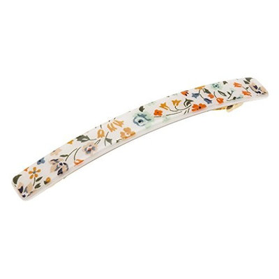 France Luxe Kona Long and Skinny Barrette - Piccadilly Green/Orange