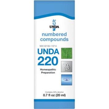 UNDA - UNDA 220 Numbered Compounds - Homeopathic Preparation - 0.7 fl oz (20 ml)