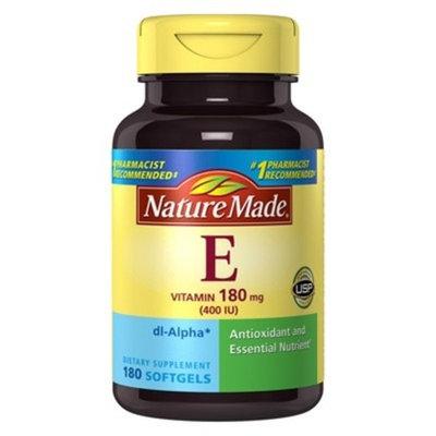 Nature Made Vitamin E 400 I.U. Liquid Softgels - 180 Count