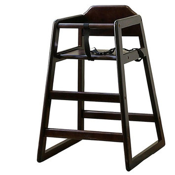 Stackable Wood High Chair Finish: Cherry