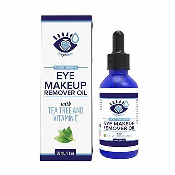 Gentle, Waterproof Eye Makeup Remover - Moisturizing & Organic with Vitamin E and Tea Tree Oil to Support Dry, Itchy Eyelids and Irritated Eyes