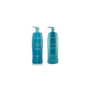 L'anza Lanza Healing Moisture Tamanu Cream Shampoo And Kukui Nut Conditioner Liter Duo