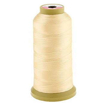 Dovewill Hair Braiding Weave Weaving Sew Decor Sewing Thread for Hair Wig Hair Extensions Tools, 5Color 2000M 0.2mm - Yellow, as described