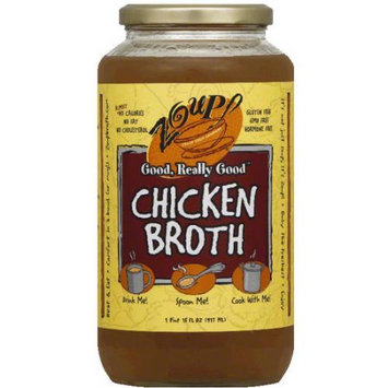 Zoup Good Really Zoup! Chicken Broth, 31 fl oz, (Pack of 6)