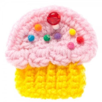 Yummy You Cupcake Pink White Yellow Hair Pin