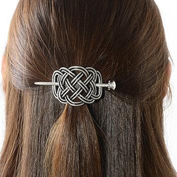 Viking Celtic Hair Slide Hairpins- Viking Hair Accessories Celtic Knot Hair Barrettes Antique Silver Hair Sticks Irish Hair Decor for Long Hair Jewelry Braids Hair Clip With Stick