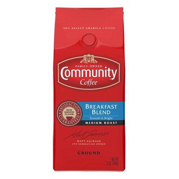 Community Coffee Premium Ground Coffee, Breakfast Blend, 12 oz, 3 Count